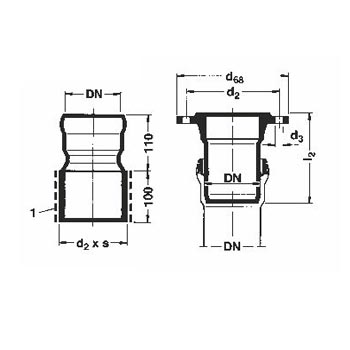 Loro-X Socket, Welding Rim ISSA Code: 39-276-00